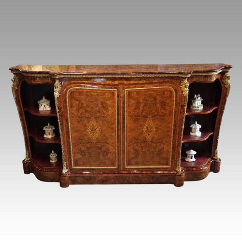 Victorian Inlaid Walnut Side Cabinet (1 of 17)