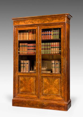 19th Century Walnut Bookcase/Chinese Cabinet (1 of 5)