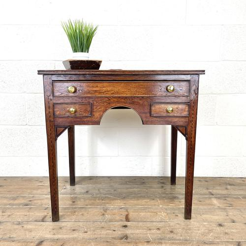 Early 19th Century Oak Side Table or Lowboy (1 of 10)