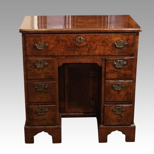 George III Walnut Kneehole Desk (1 of 12)