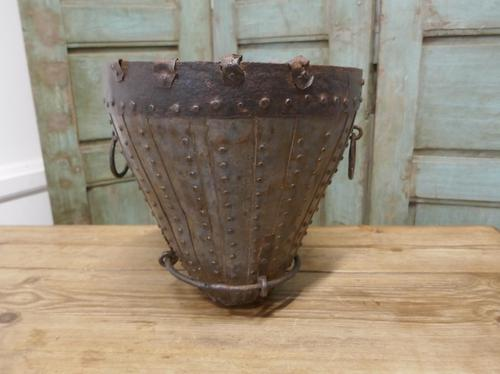 19th Century Brutalist North African Water Bucket (1 of 6)