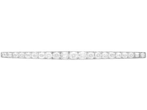 6.08ct Diamond & Platinum Bar Brooch - Antique French c.1910 (1 of 12)