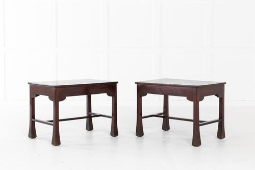 Pair of French Mahogany Side Tables (1 of 4)