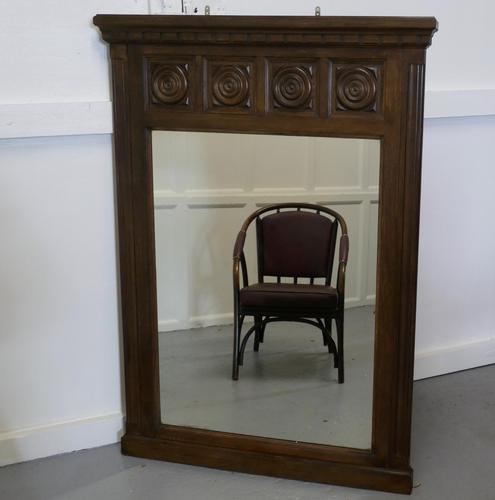 Large French Carved Oak Wall Mirror (1 of 5)