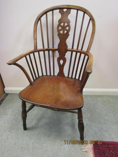 19th Century Wheel-back Windsor Chair (1 of 6)