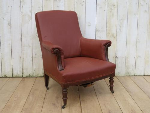 Antique French Napoleon III Armchair For Re-upholstery (1 of 9)