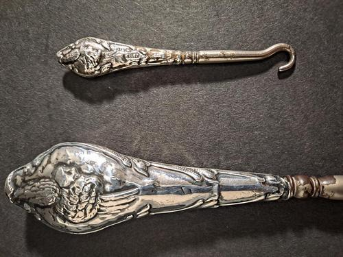 Edward VII Silver Handled Button Hooks (1 of 4)
