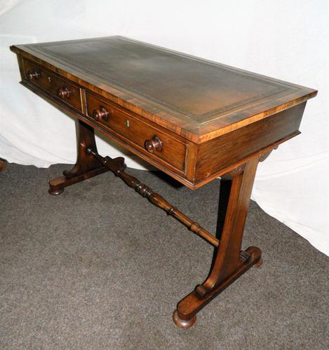 William IV Rosewood Writing Table / Library Table (1 of 6)