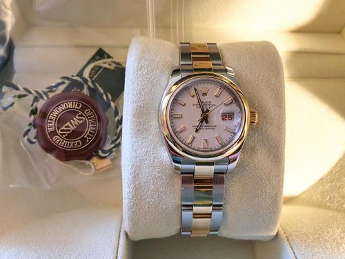 Ladies Rolex Datejust Watch with Automatic Movement (1 of 7)