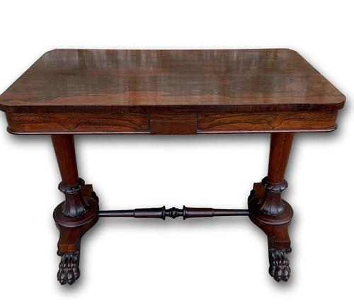 Superb English Victorian Rosewood Centre Table (1 of 5)