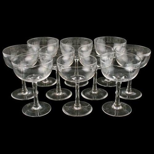 Set of Ten Champagne Glasses (1 of 5)