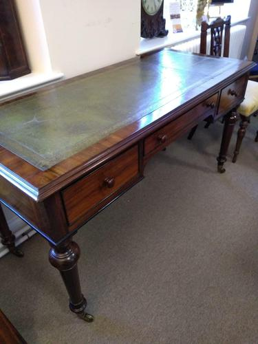 Early Victorian Three Drawer Writing Table (1 of 5)
