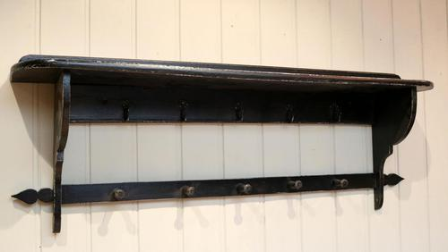 French Painted Wall Shelves With Coat Hooks (1 of 9)
