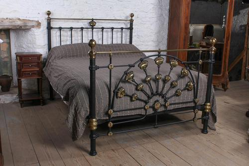 Magnificent King Size Victorian Brass & Iron Bed (1 of 1)