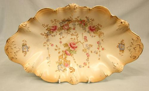 Antique Crown Devon Shaped Decorated Dish (1 of 6)