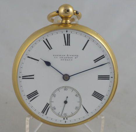 Topham & White Dublin 18k Gold Pocket Watch (1 of 3)