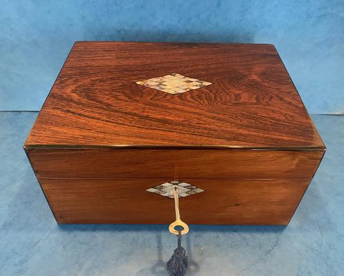 Victorian Rosewood Jewellery Box (1 of 15)