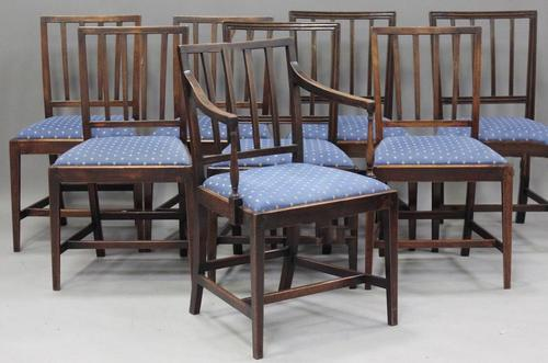 Set of 8 George III Mahogany Dining Chairs (1 of 3)