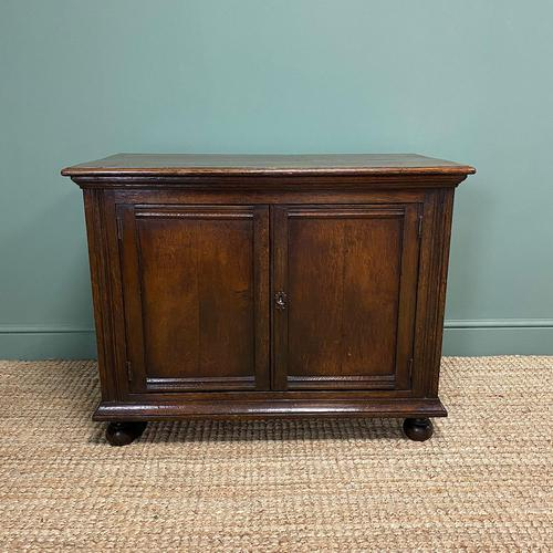 Quality Victorian Solid Oak Antique Cupboard (1 of 7)