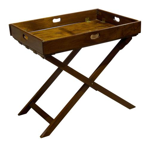 Early 19th Century Rectangular Drop Sided Butler's Tray (1 of 9)