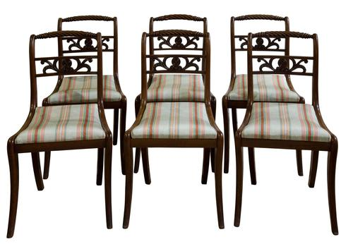 Set of 6 Regency Dining Chairs c.1820 (1 of 7)