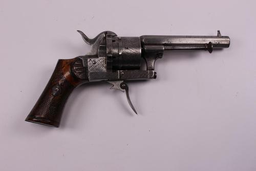 Belgian 19th Century 7mm Lefaucheux Double Action Pinfire Revolver (1 of 7)