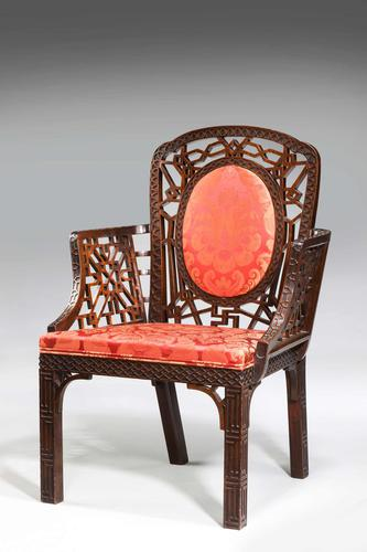 Chippendale Design Armchair - Chinese Period (1 of 6)