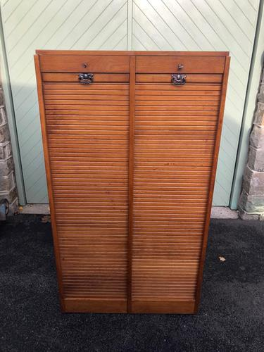 Antique Oak Double Filing Cabinet (1 of 10)