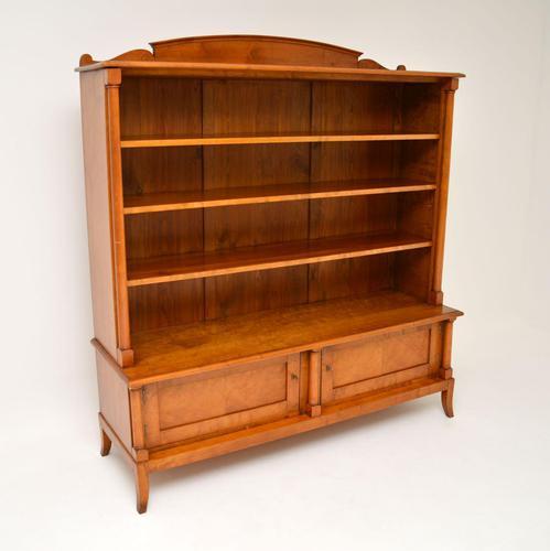 Antique Swedish Biedermeier Satin Birch Bookcase (1 of 12)