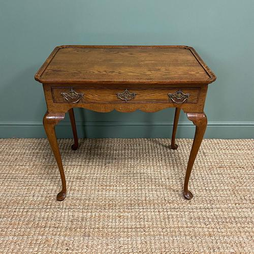 Victorian Oak Antique Silver Table (1 of 6)