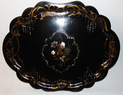 Large Victorian Papier Mache Tray (1 of 6)