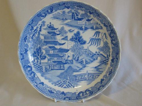 Mason's Willow Pattern Dish- Pagoda Pattern (1 of 1)