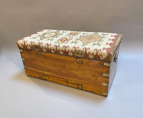 19th Century Campaign Camphor Chest Seat (1 of 13)