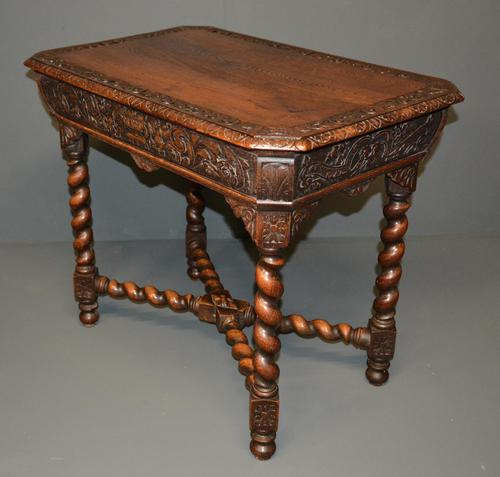 Carved Oak Centre Table (1 of 2)