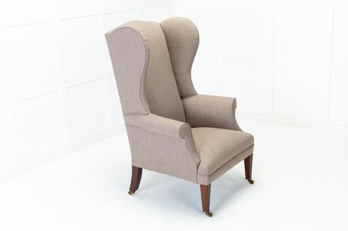 19th Century English Mahogany Wing Chair (1 of 7)