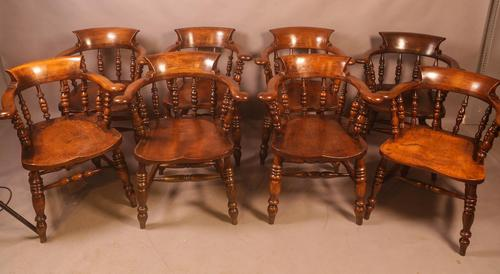 Set of 8 Captains Chairs Ash & Elm (1 of 13)