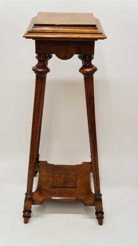 Elegant Victorian 2 Tier Walnut Pedestal or Plant  Stand (1 of 12)