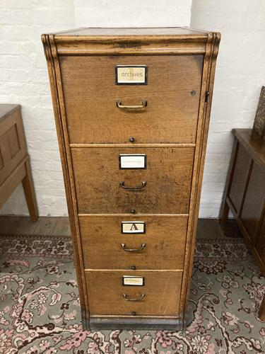 Oak Filing Cabinet (1 of 9)