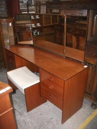 Stag Teak Dressing Table & Stool (1 of 3)