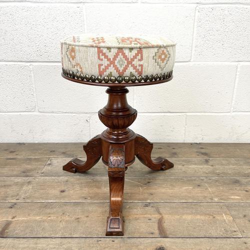 Antique Rise & Fall Piano Stool (1 of 6)