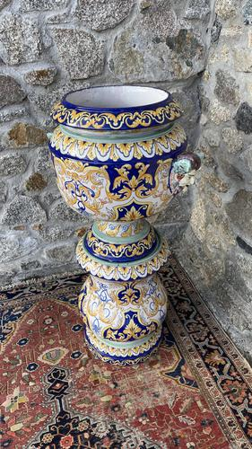 Montagnon French Majolica Jardiniere on Stand (1 of 16)