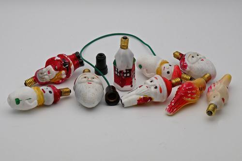 Vintage Figural Christmas Tree Light Bulbs 1930s (1 of 1)