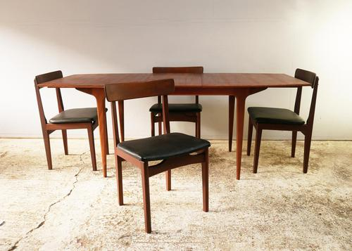 1960's mid century extending dining table and 4 chairs by Mcintosh (1 of 7)