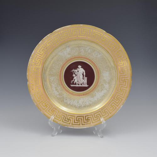 Early Coalport Neo Classical Dessert Plate Greek Key Border c.1805-1810 (1 of 8)
