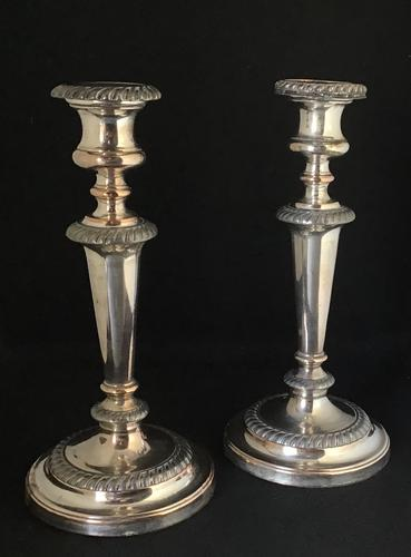 Pair of Old Sheffield Plate on Copper Candlesticks (1 of 7)