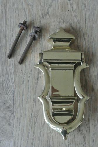 Genuine Victorian Brass Door Knocker & Bolts 7.25 Inches (1 of 5)