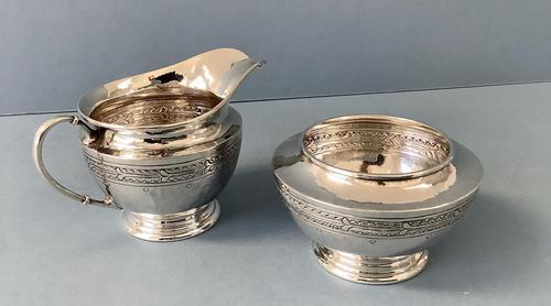 Silver Liberty Milk Jug & Sugar Bowl (1 of 6)