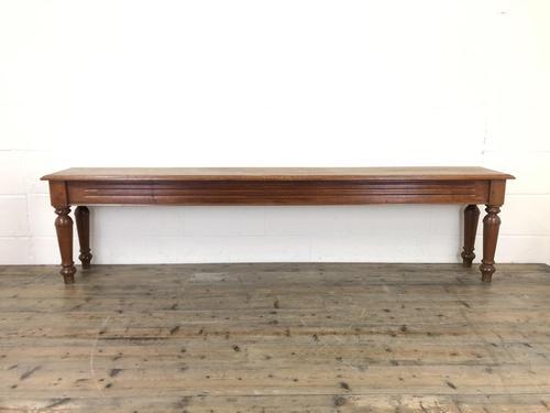 Long Victorian Mahogany Hall Bench (1 of 11)