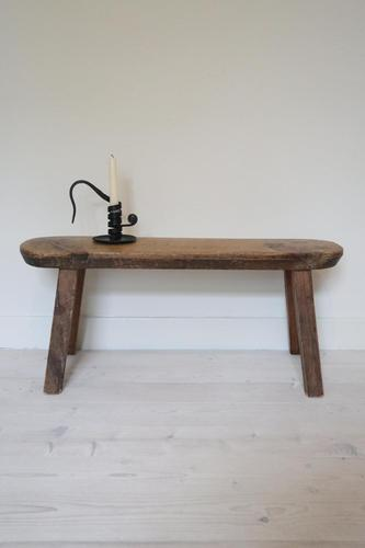 Scandinavian / Swedish 'Folk Art' Small Wooden Bench Late 19th Century (1 of 17)