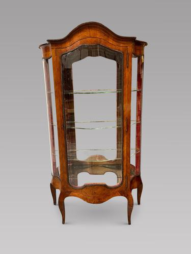 French 19th Century Kingwood Serpentine Vitrine Display Cabinet (1 of 5)
